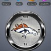 BRONCOS BLACK Clock