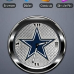 COWBOYS BLACK Clock