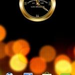 AUDIGIER GOLD Clock