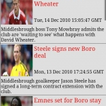 Middlesbrough FC Clocks & News