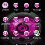 3D Pink Droid Theme