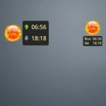 Sunrise Sunset Widget