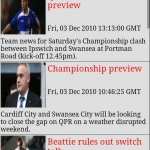 Swansea City AFC Clocks & News