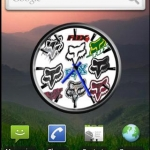 Fox Logos Clock Widget