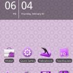 ADW Theme MissDroid in Purple