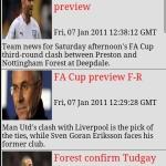 Nottingham Forest Clock & News