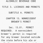 Texas Alcoholic Beverage Code