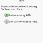 Dexrex SMS Backup