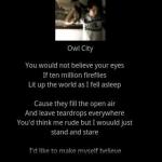 Fireflies  Owl City
