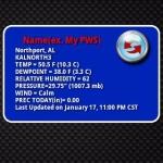 PWS Weather Widget