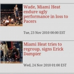 Heat Basketball News & Clocks