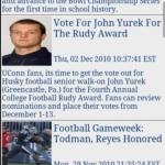 Huskies Football News & Clocks