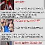 Southampton FC Clocks & News