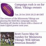 Vikings Football News & Clocks