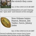 Saints Football News & Clocks