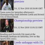 Leeds Utd  AFC Clocks & News