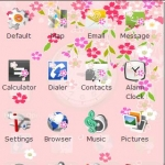 Saora Themes:Weeping Cherry Red