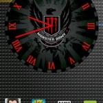 Monster Energy Red Clock