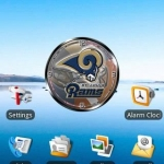 St Louis Rams clock widget