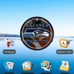 Seattle Seahawks clock widget