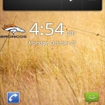 Broncos Digital Clock Widget