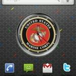 US Marine Corps Clock Widget