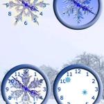 Snowflake Clocks