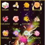 Butterfly flowers theme