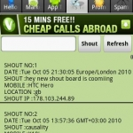Android Shout Boards