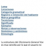 Vox General Spanish LanguageTR