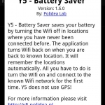 Y5  Battery Saver