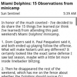 Dolphins News
